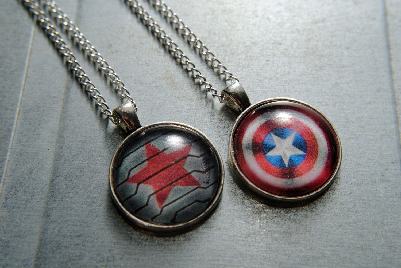 Captain America Marvel inspired silver cabochon bracelet