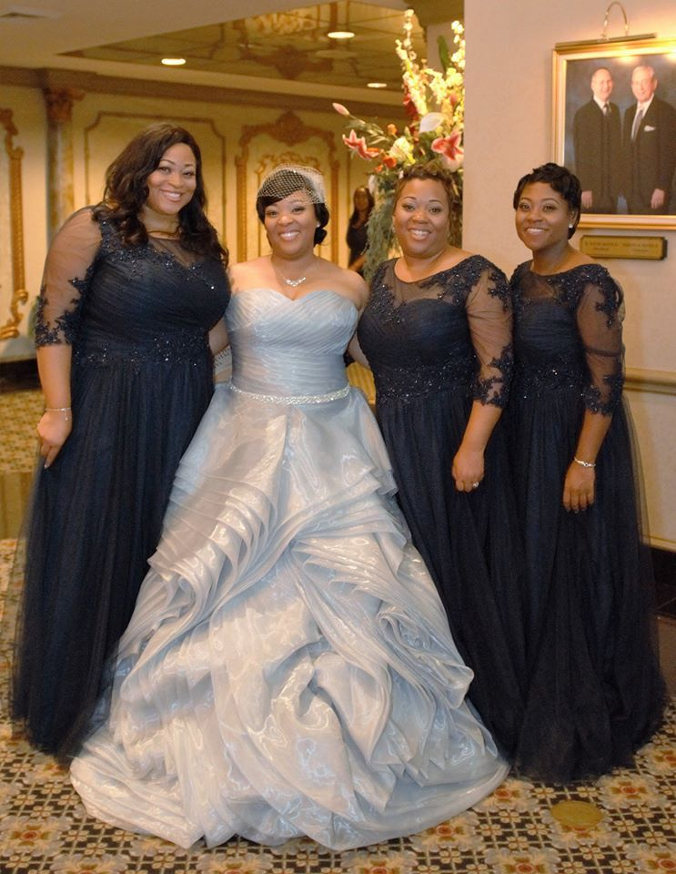 Silver plus size wedding dresses from the Darius Collection ...