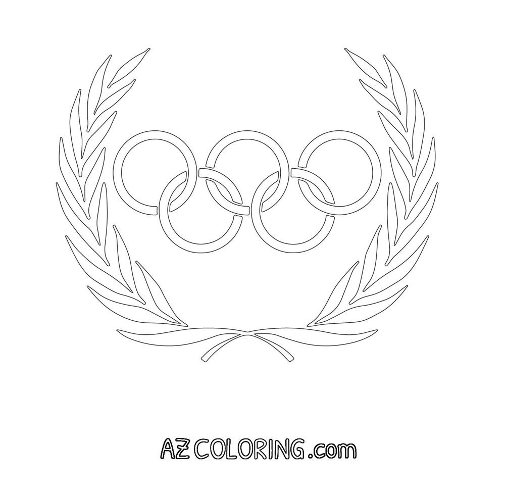 Olympic Rings Coloring Page Olympics Coloring Pages Olympics