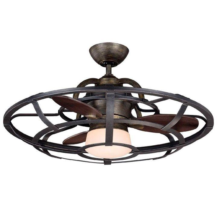 Hampton Bay Lighting Caged Ceiling Fan Ceiling Fan Wood