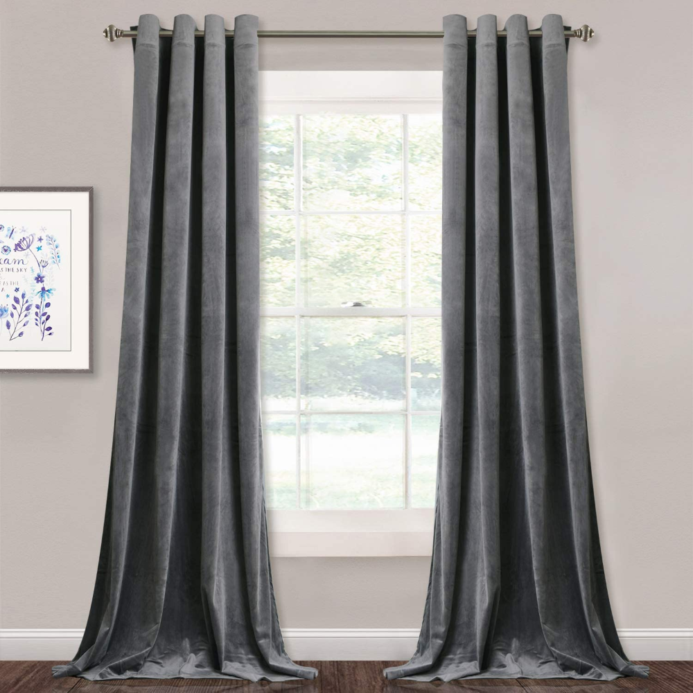 Amazon Com Stangh Grey Velvet Curtains For Living Roo