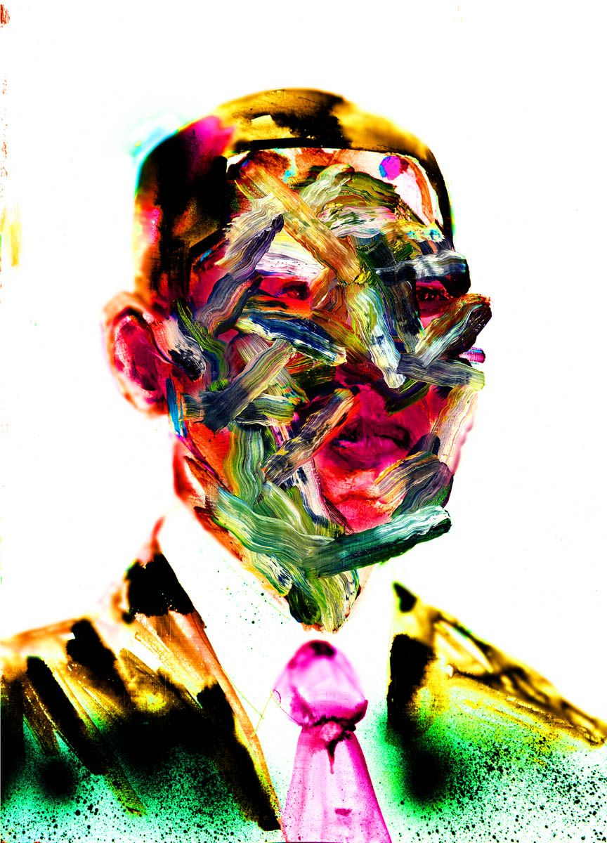 David Choe Obama Painting Art Variant My First Drawing Ever Of