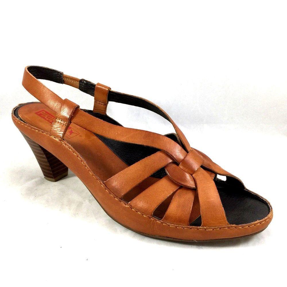 371b0d331 Pikolinos Brandy Sandal Slingback Brown Peep Open Toe Braided 41 11 Tan  Leather  Pikolinos  Slingbacks  any
