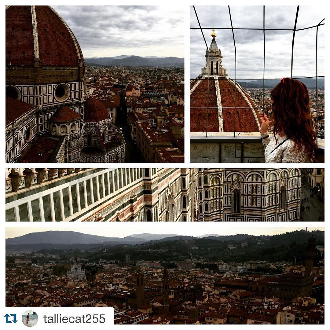 #Repost @talliecat255 Seeing Florence from a new perspective  #climbingtheduomo #giottosbelltower #414stepslater #duomo #cathedral #belltower #breathtaking #florence #studyabroad #ispyapi #firenze #italy