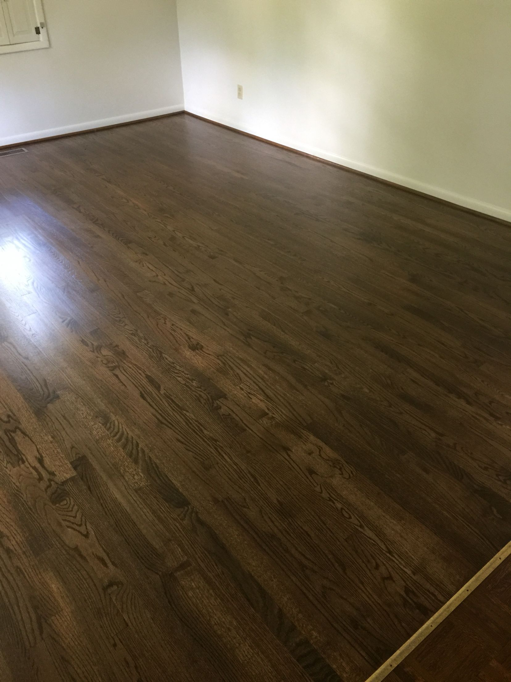Oak Floors With Pet Stains Sanded And Refinished With