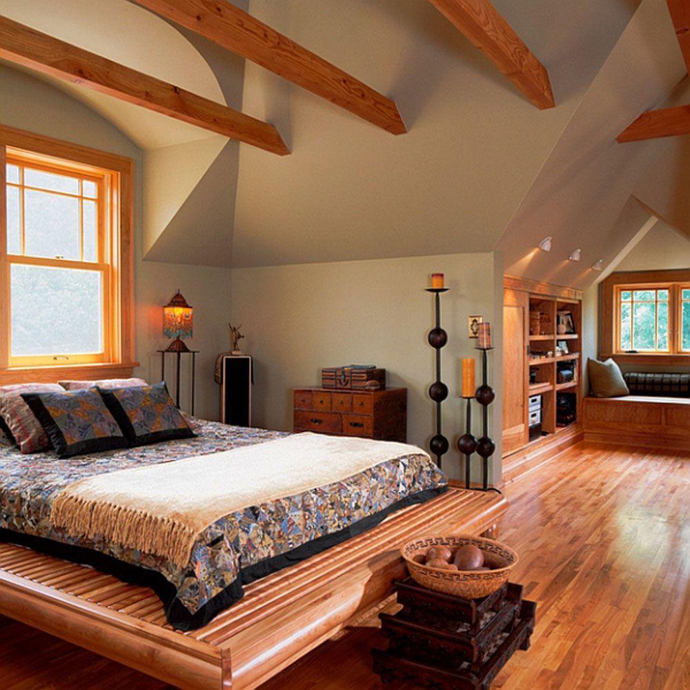 Loft bedroom style  Breathtaking Attic Master Bedroom Ideas  Attic bedrooms Attic and