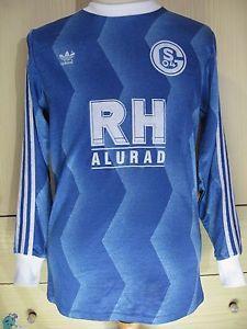 Schalke 04 Adidas Germany 1987 1988 Vintage Home Football Trikot Soccer Shirt M Ebay