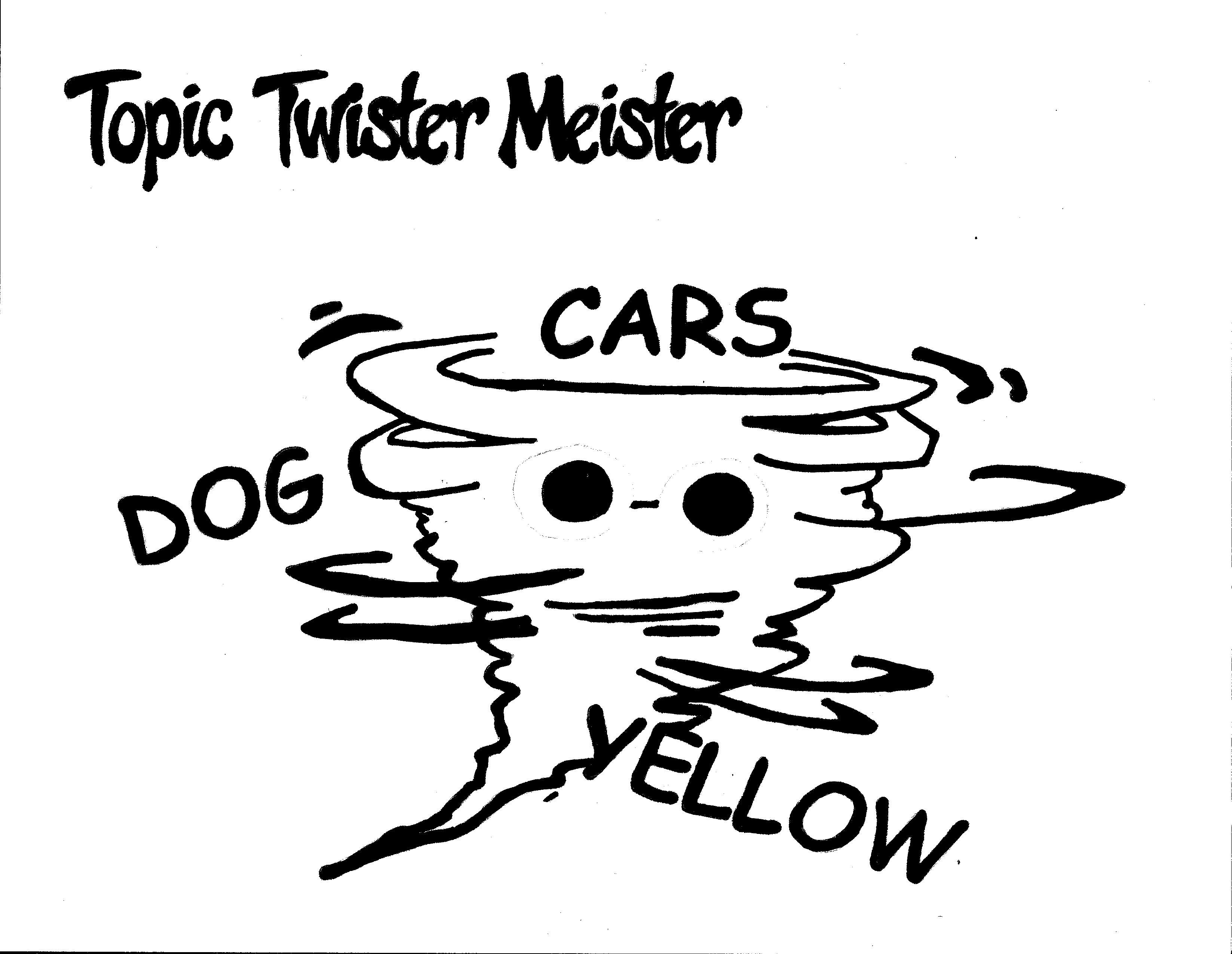 Topic Twister Meister Coloring Page. Team Unthinkables