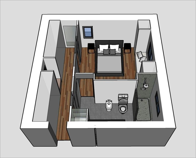 Plan suite parentale | déco | Home bedroom, Bedroom floor plans et ...