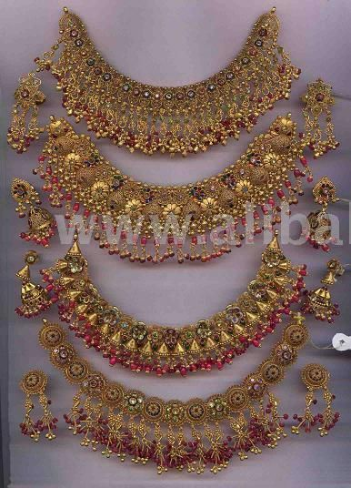Gold necklace Indian bridal jewellery Indian Wedding Indian