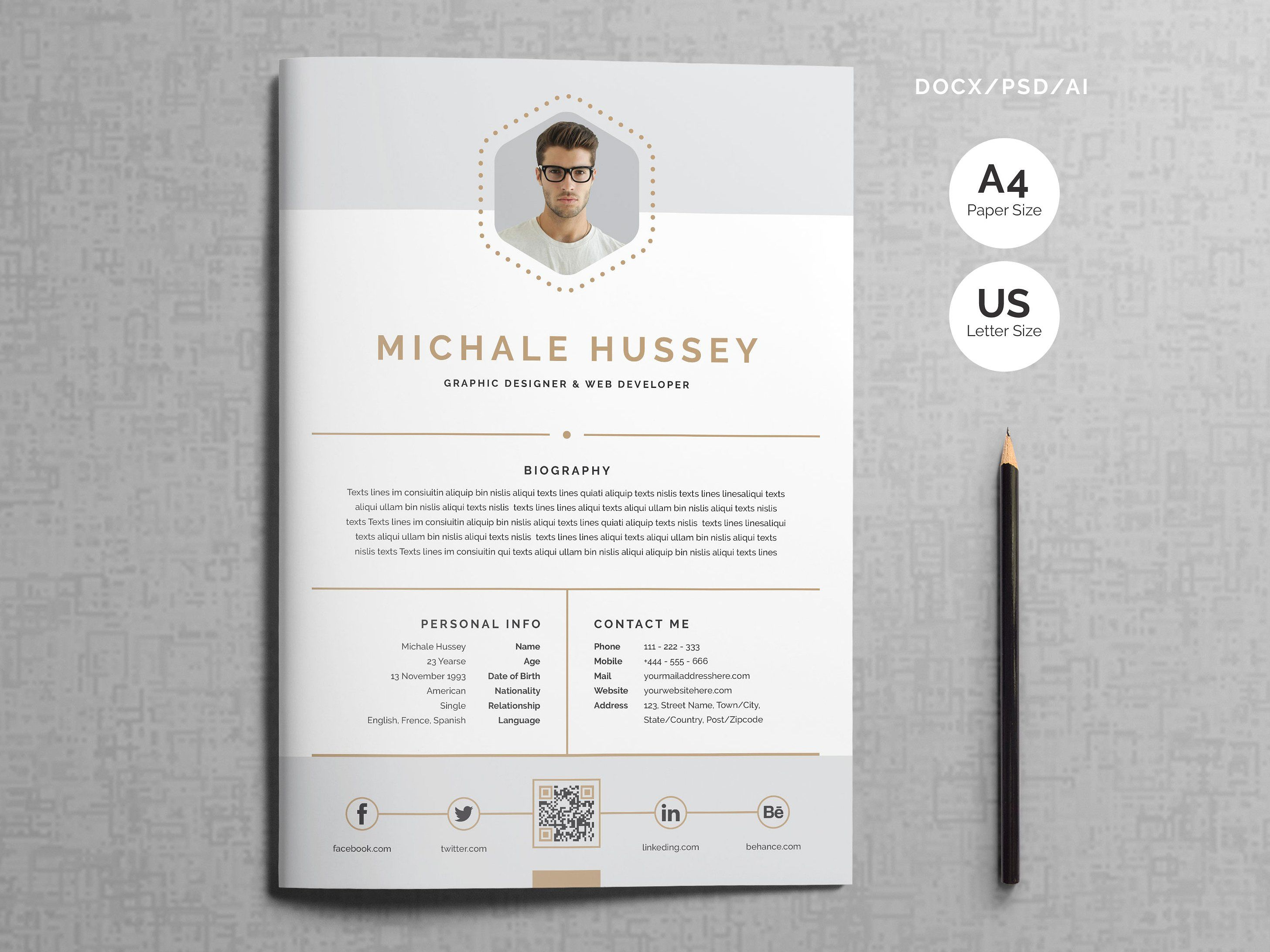 Clean Resume Booklet 8 Pages With Images Clean Resume Booklet