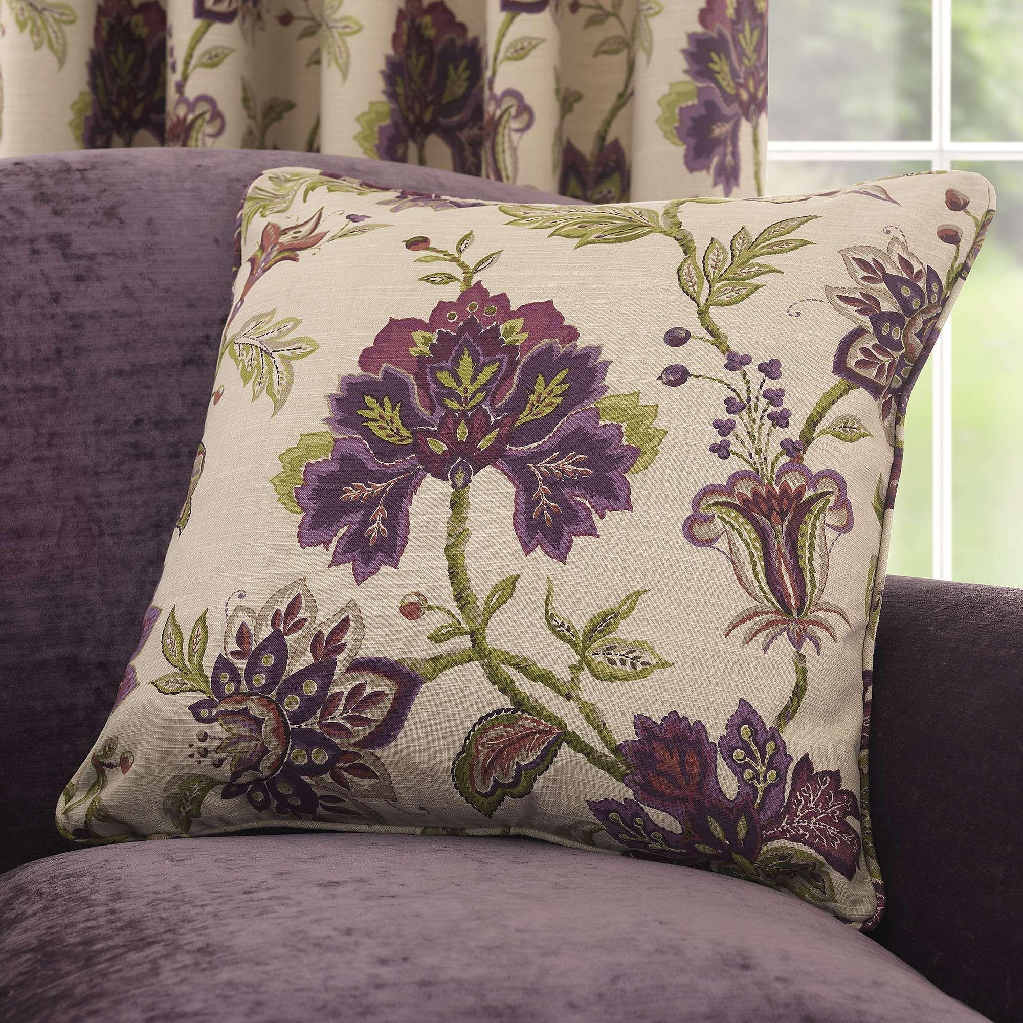 Dorma Bloomsbury Plum Lined Eyelet Curtains Dunelm Curtains Dunelm Lounge Decor Throw Pillows