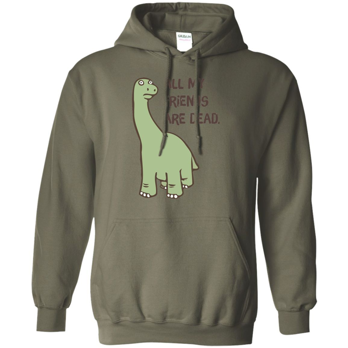 All My Friends Are Dead Dinosaur T Shirt 01 Pullover Hoodie 8 Oz