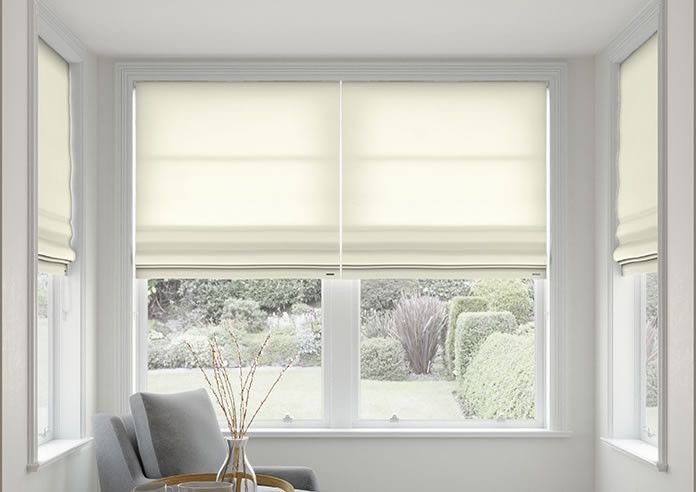 Mayfair Ivory Roman Blind Roman Blinds Large Roman