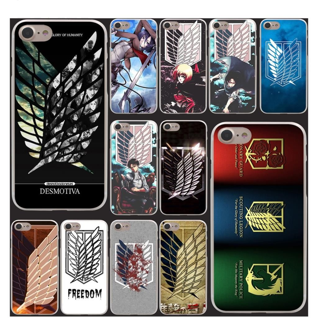 Attack on Titan Hard Phone Cover Case for Apple iPhone