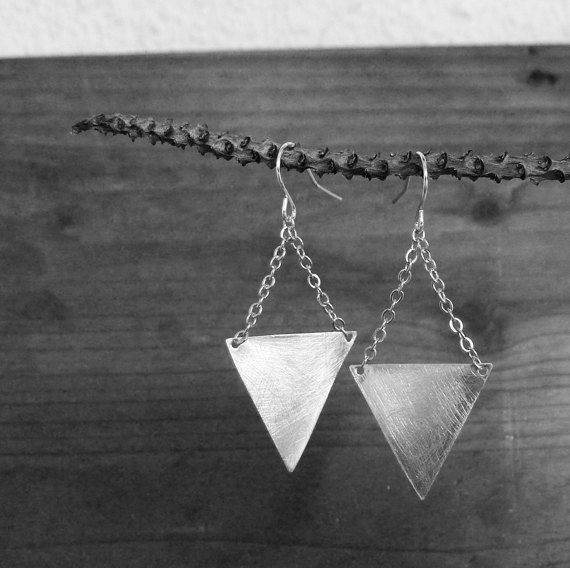 Triangle Points Earrings No. 38 by moderntribes on Etsy, $29.00