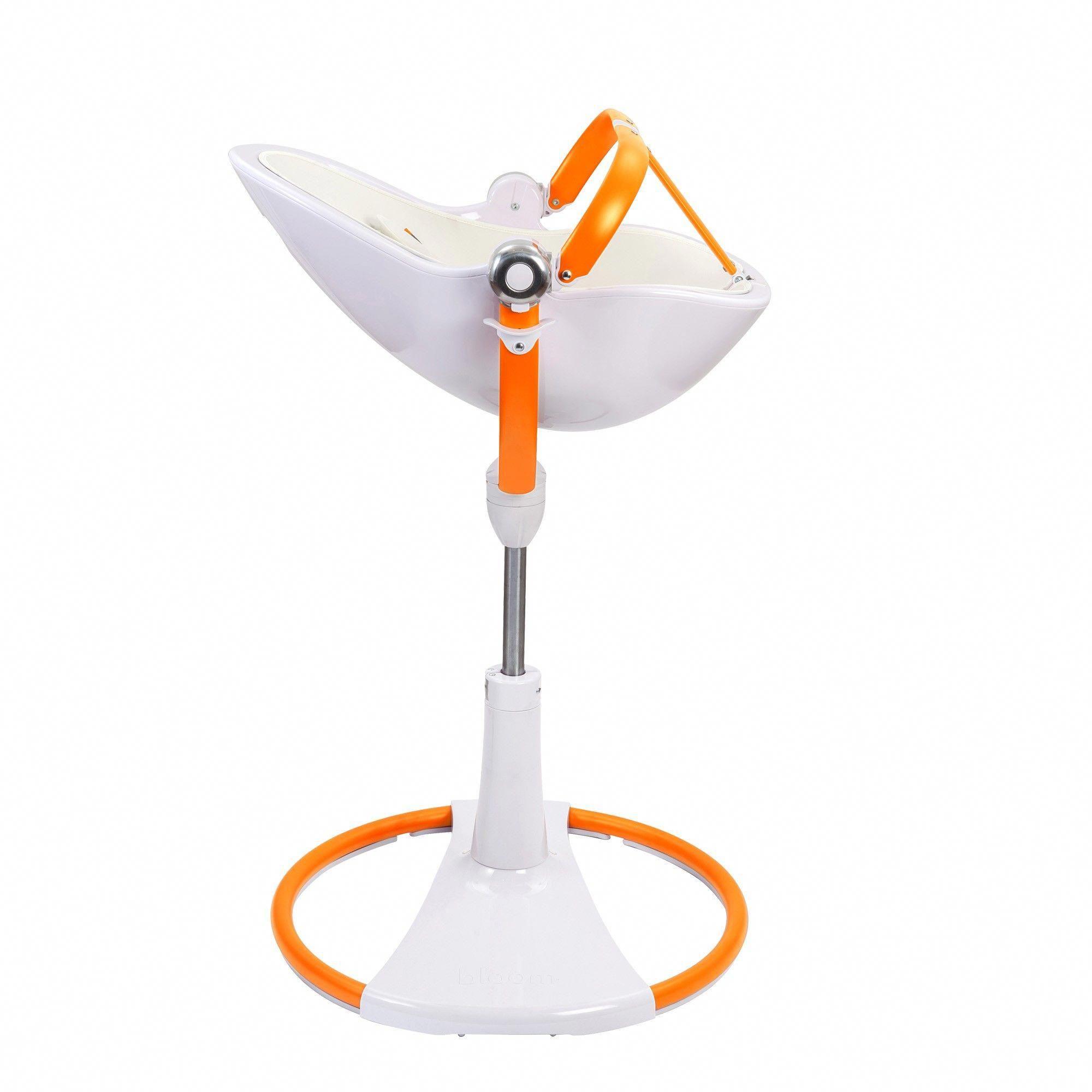 Bloom Fresco Chrome Giro Highchair White And Orange