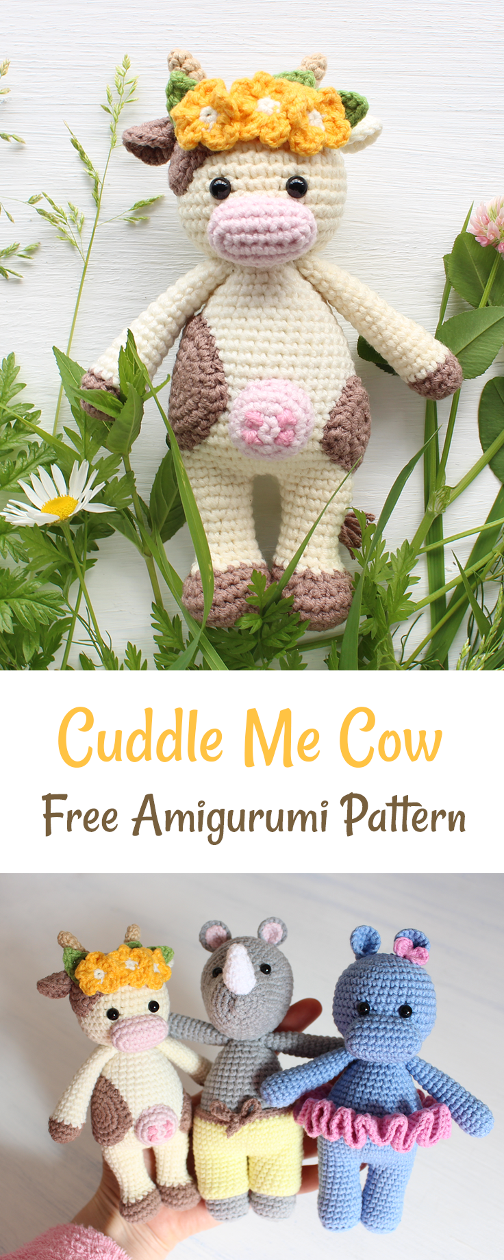 Create a friendly crochet cow using our FREE step-by-step pattern ...