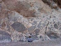 breccia Titus Canyon Death Valley, California