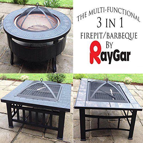 RayGar Multifunctional 3 in 1 Outdoor Garden Fire Pit BBQ ...