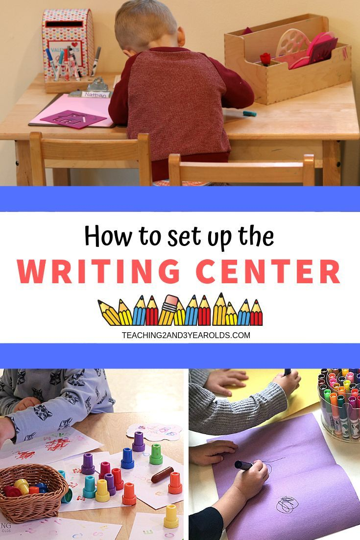 How to Set Up the Preschool Writing Center | Writing ...