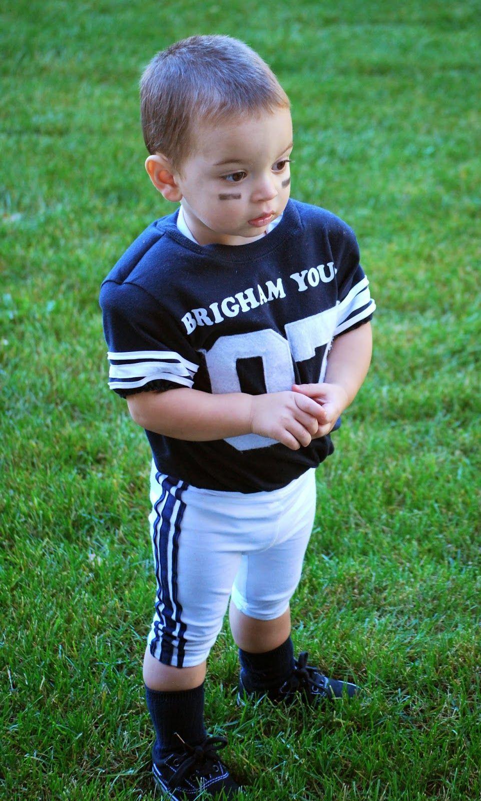 Homemade Halloween Football Player Baby Football Tutorials