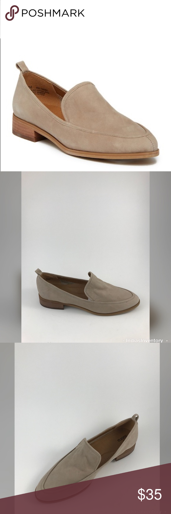 fd03ba81928 SUSINA Kellen Almond Toe Loafer Susina Kellen Almond Toe Loafer Size 8.5M  TAUPE LEATHER New