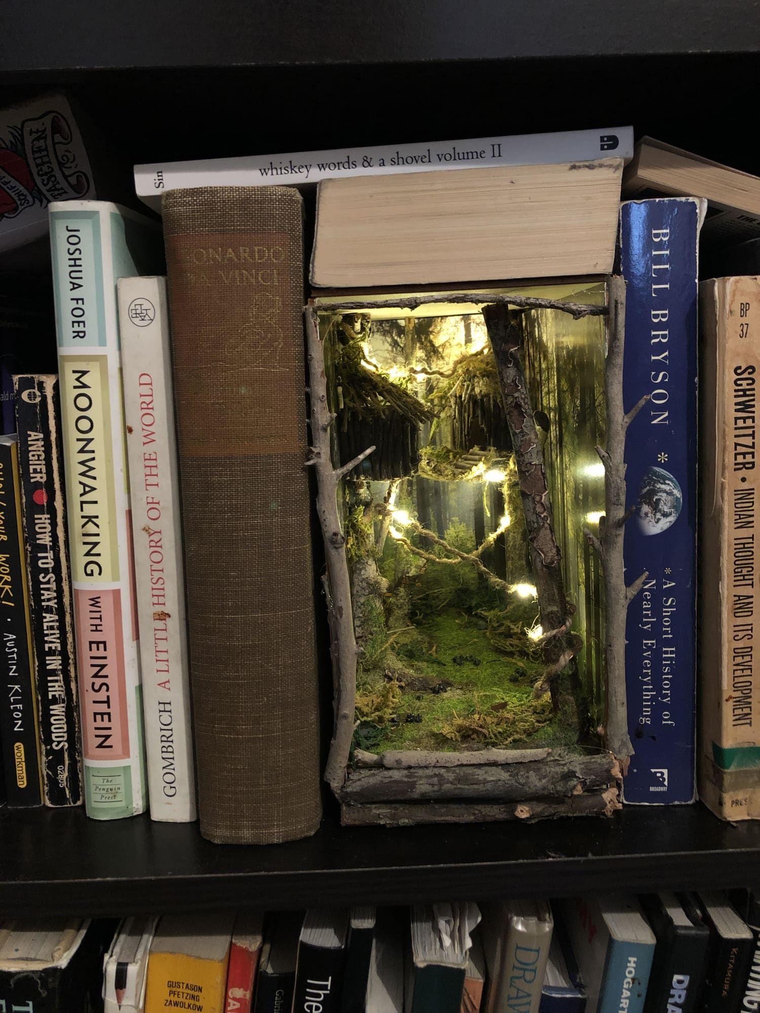 Book Nook Mount Doom Etsy Book Nooks Bookshelf Art Nook