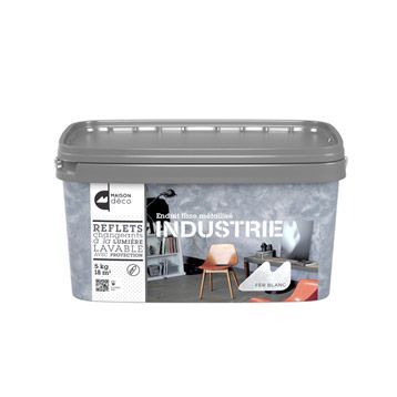 Enduit Décoratif Industrie Maison Deco Fer Blanc 5 Kg