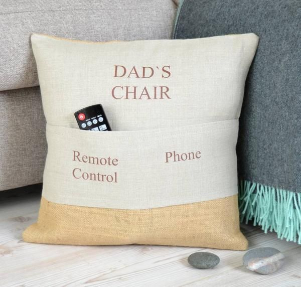 Personalised Pocket Cushion Xmas Gifts For Dad Diy Birthday