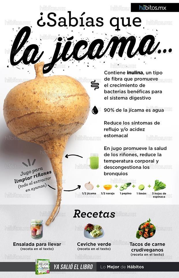Beneficios de la jícama is part of Healthy nutrition -