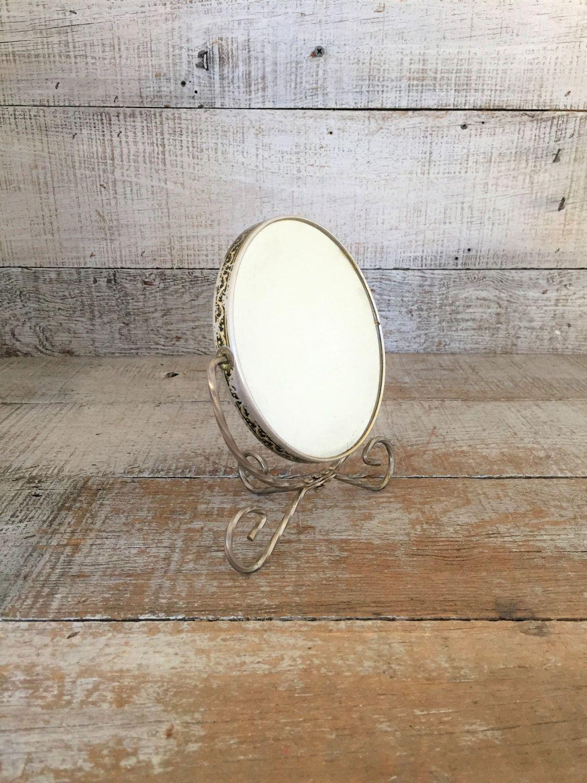 Mirror vintage vanity mirror dresser top mirror hollywood regency