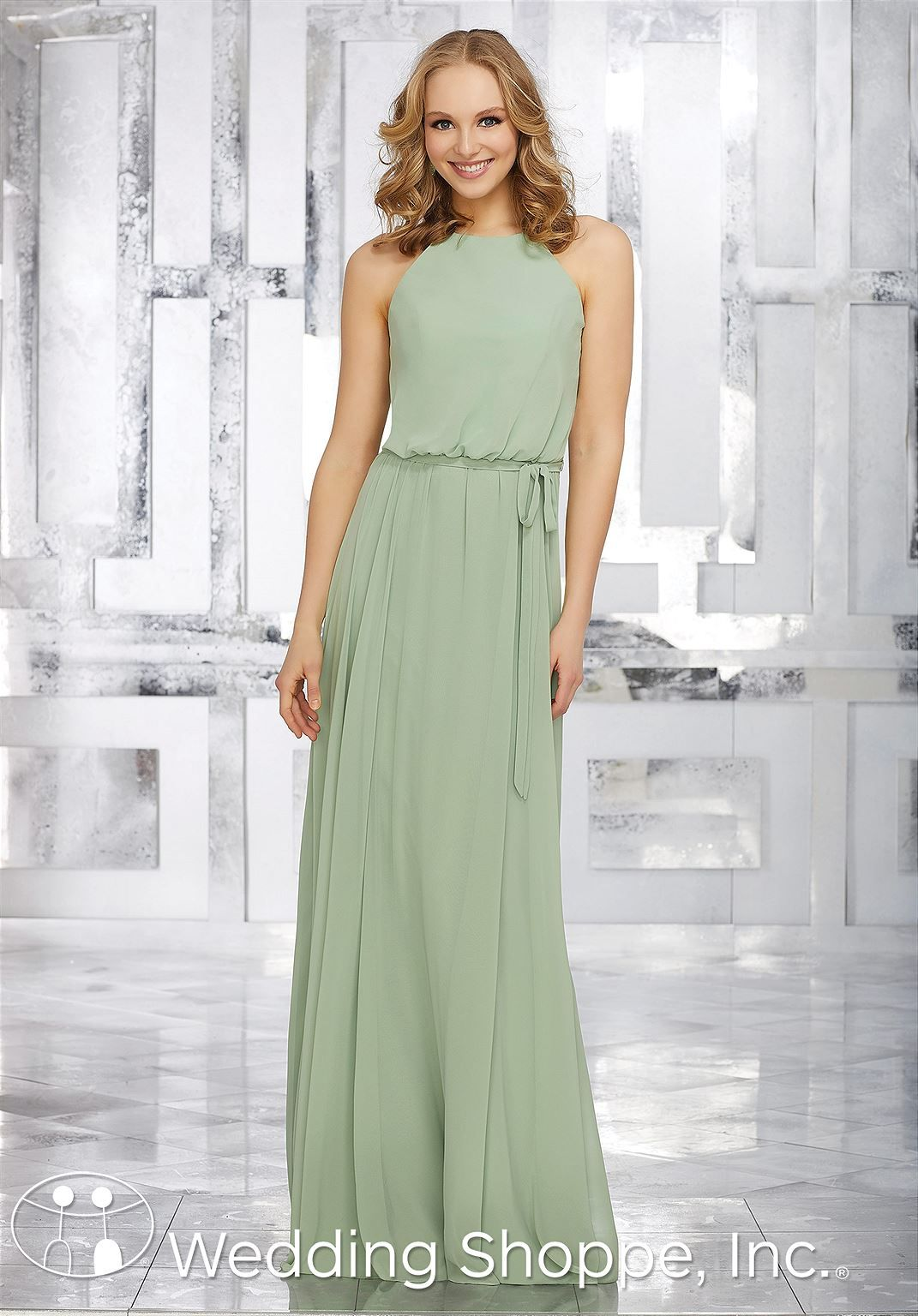 Mori lee madeline gardner wedding dress  Mori Lee Blouson Chiffon  Bridesmaid Dress  Bridesmaids