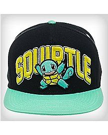 baa1e40d60f00 3D Embroidered Squirtle Pokemon Snapback Hat