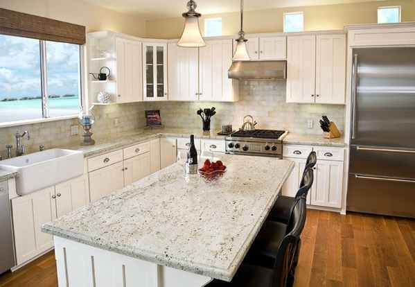 Best Colonial Cream Granite With White Cabinets Granite 400 x 300