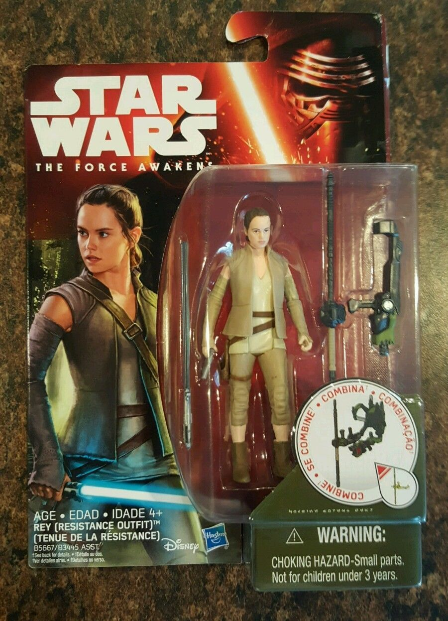"""STAR WARS REY RESISTANCE OUTFIT The Force Awakens 3.75/"""" Action Figure BRAND NEW"""