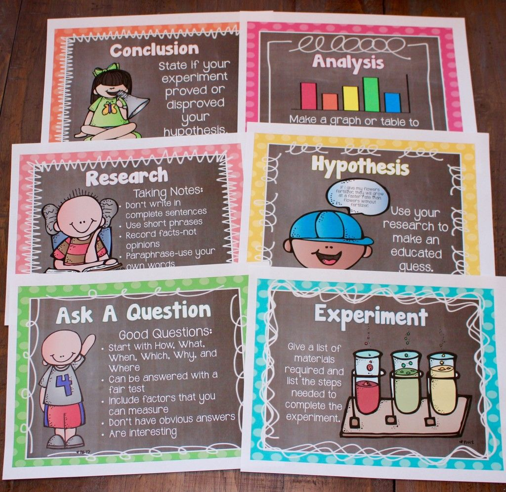 Scientific Process Posters-great Teaching