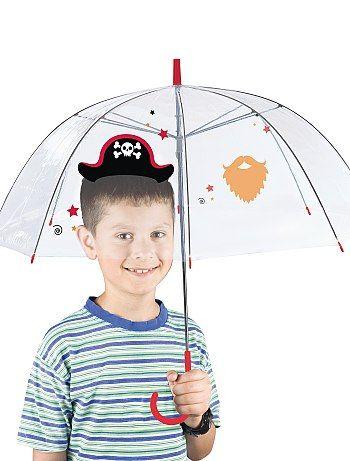08843d100 Paraguas transparente con motivo rojo Chico - Kiabi | Accs