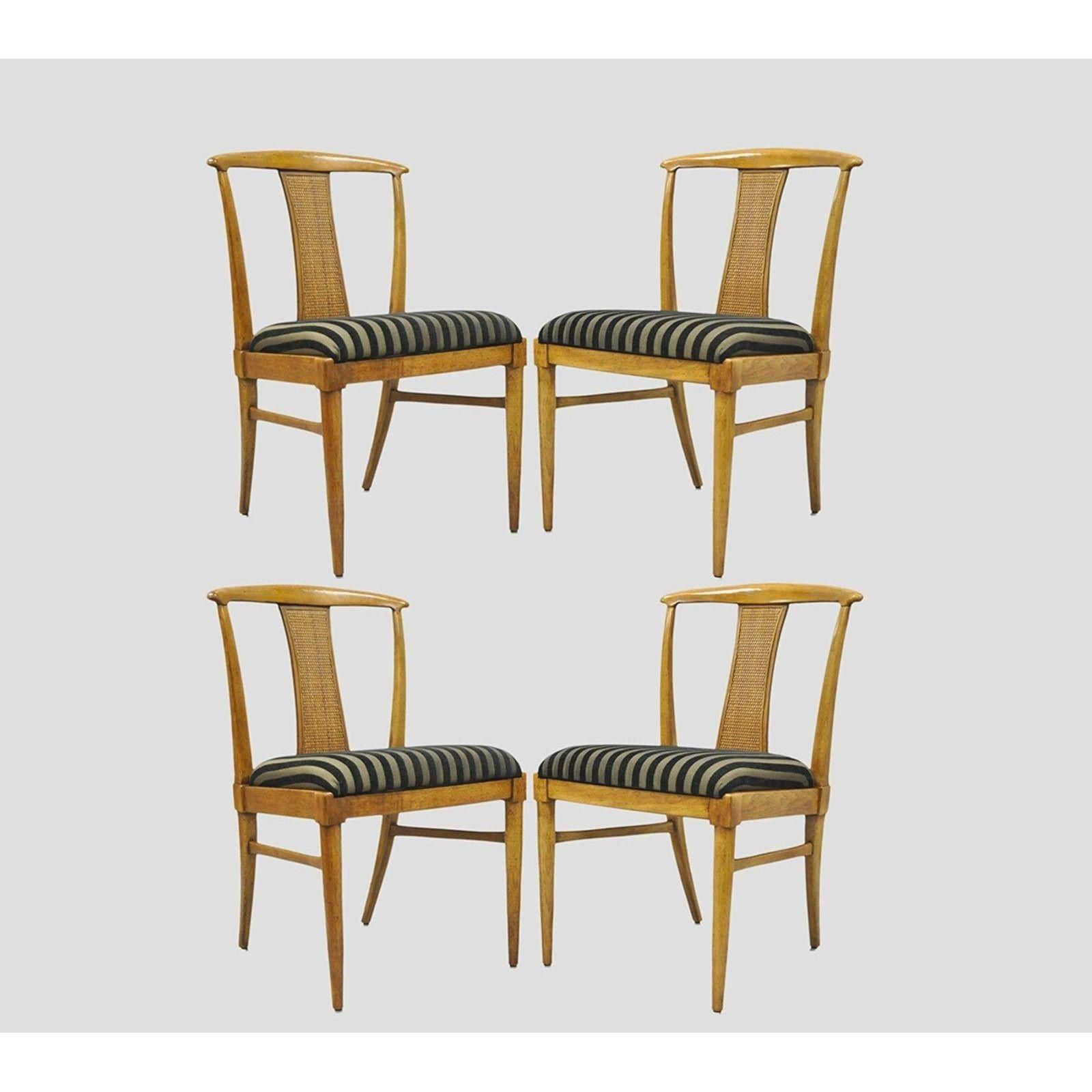 Set of 4 Thomasville Tamerlane Dining Side Chairs Mid