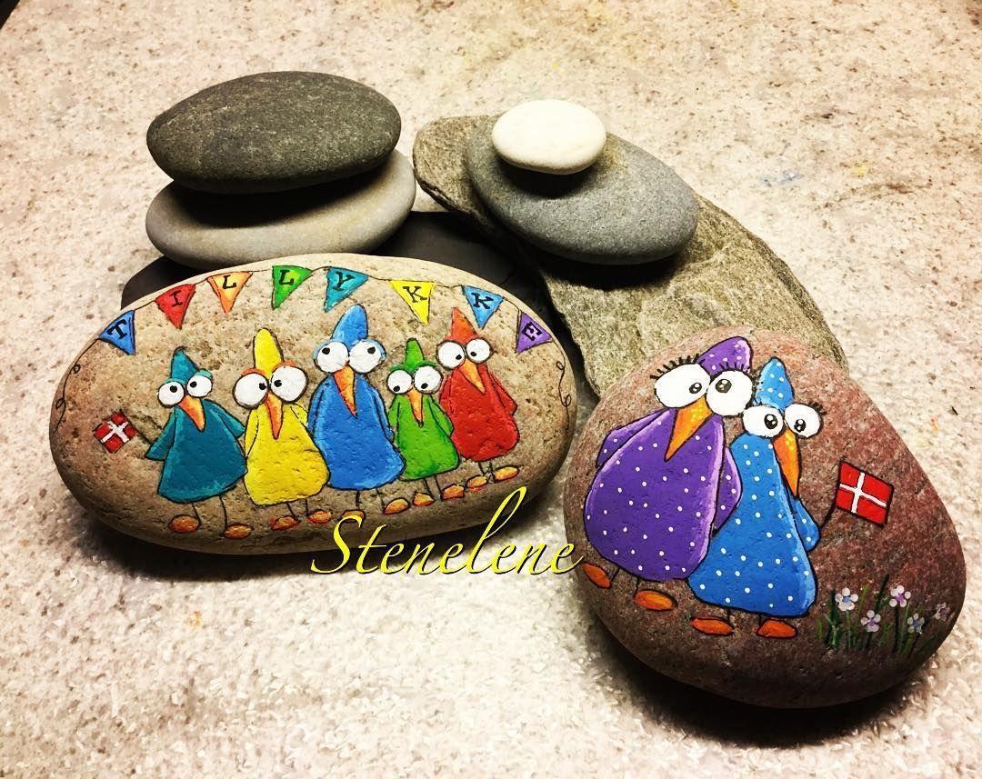 Bemalte Steine Gefunden