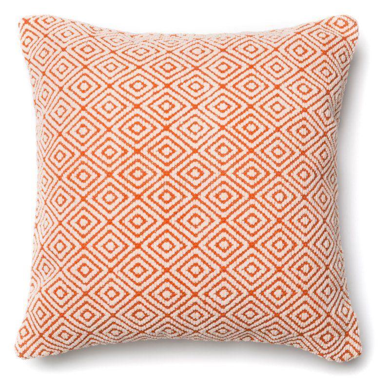 Loloi P0182 Decorative Pillow Polyester Fill Orange / Ivory - PSETP0182ORIVPIL3