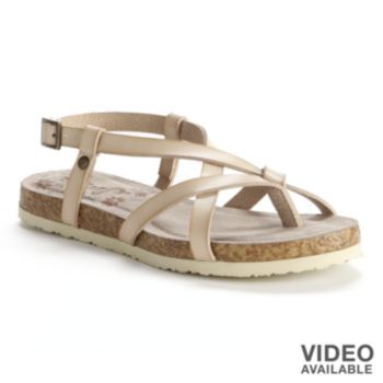 2259c3359 sugar Lightning Strappy Flat Sandals - Women