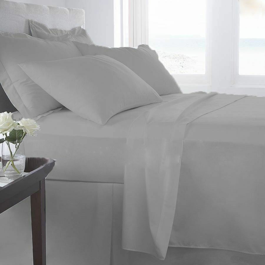 800//1000//1200//1500 TC Egyptian Cotton Bedding Item Egyptian Blue Solid All Size