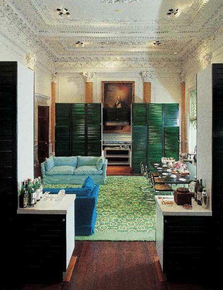 Green Hicks Living Room in 2021   Design, Maximalist ...