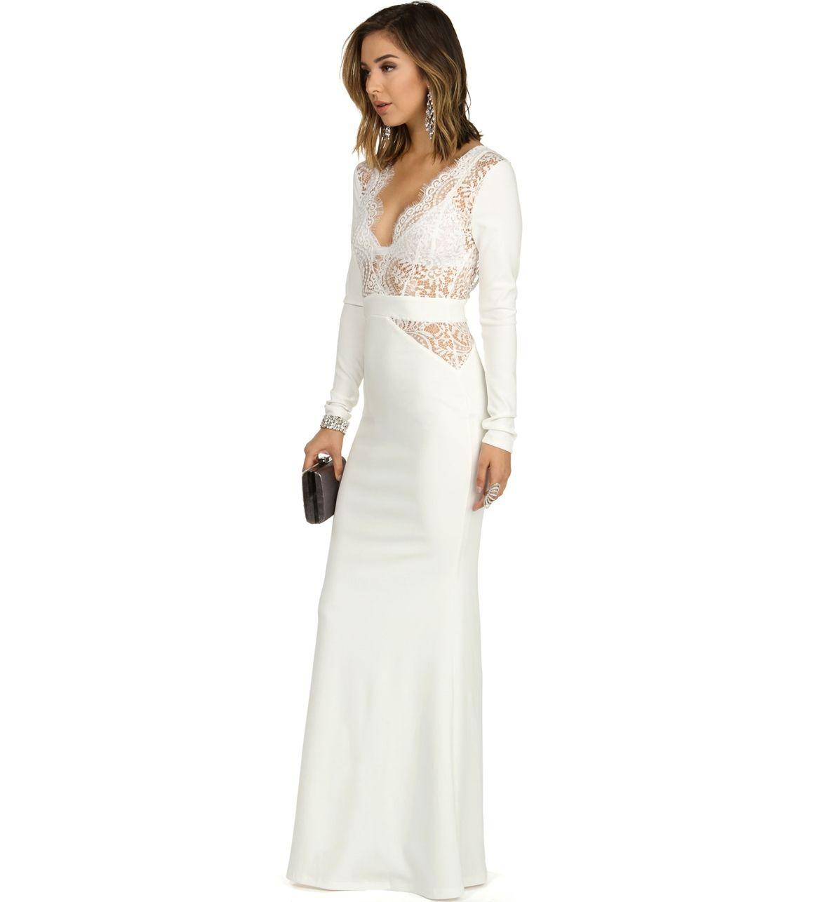 Tarawhite prom dress from windsor f o r m a l a f f a i r