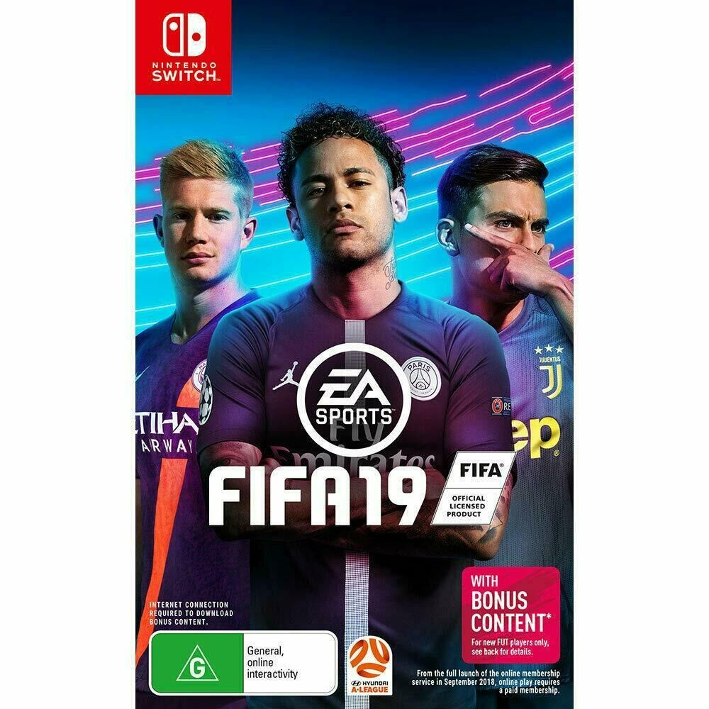 FIFA 19 Nintendo Switch NS Soccer Football Footy Sports
