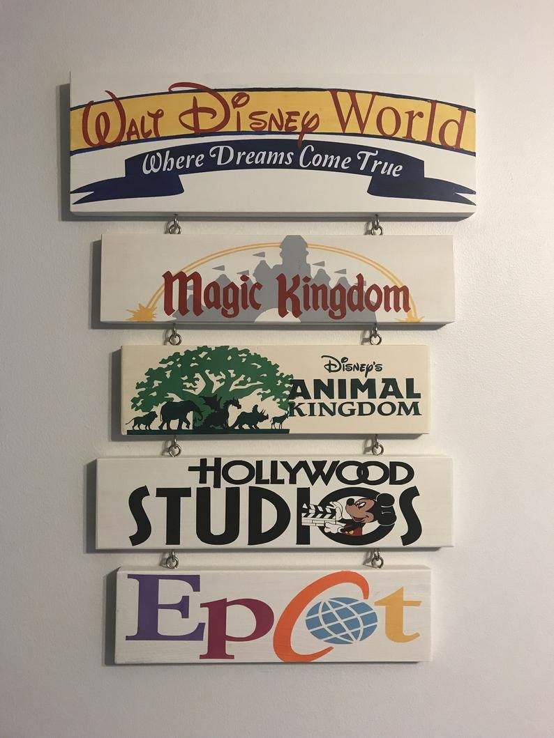 Hand painted Walt Disney World Parks Sign, customi