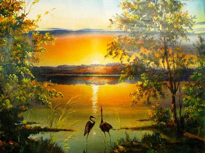 Картинки по запросу красивые пейзажи маслом