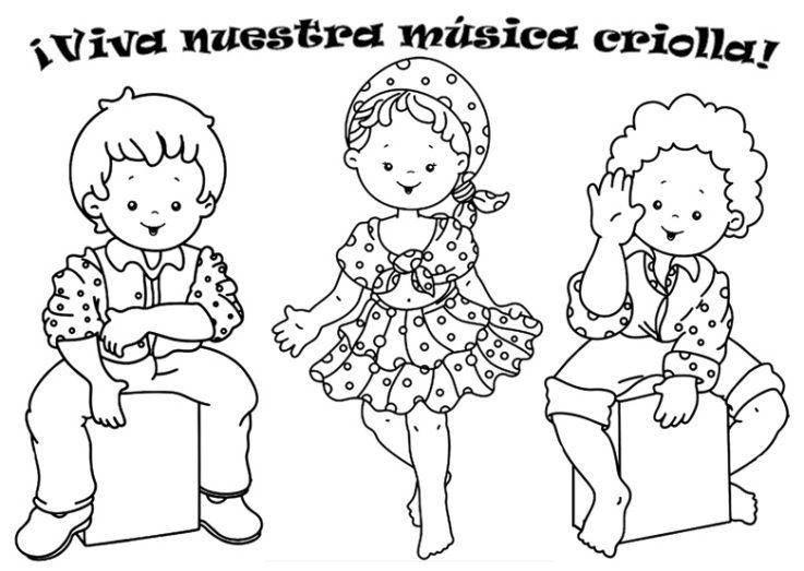 Musica Criolla Para Colorear