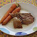 Agneau de lait du Pays Basque, carottes glacées au miel
